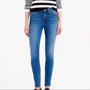 J. Crew High-Rise toothpick skinny jeans size 26